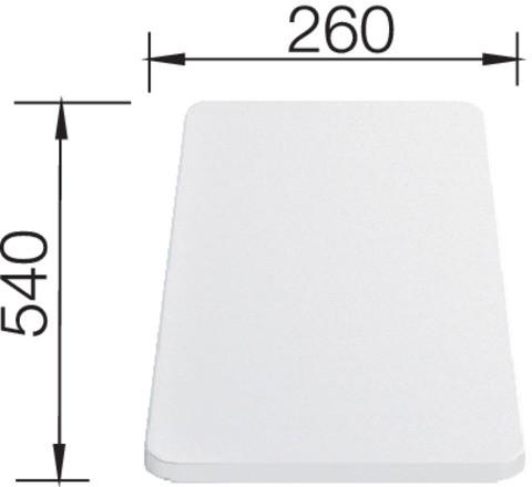 Blanco Schneidbrett Kunststoff weiß 210521