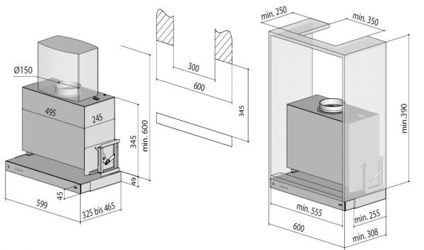 Berbel - Einbauhaube Glassline BEH 60 / 90 GL