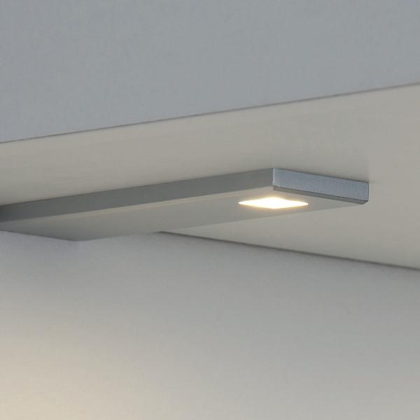 SK d'lau cubo LED-Unterbauleuchten-Set edelstahlfarbig