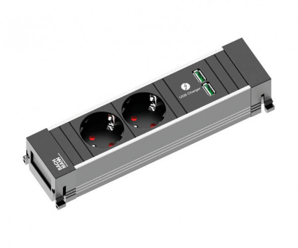 Power Frame Steckdosenelement 2-fach+2 USB