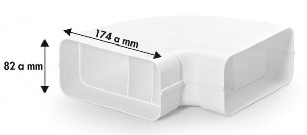 Compair® flow Flachkanal 125 Rohrbogen horizontal 90°