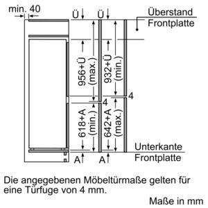 Siemens - Kühl-Gefrier-Kombination KI77SAD40 Nische 158cm, EEK: A+++