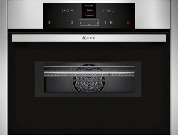 neff kompakt einbaubackofen cmr 1502 n mit mikrowelle einrichtungsland m bel spanrad. Black Bedroom Furniture Sets. Home Design Ideas