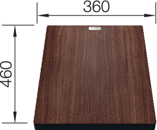 Blanco Nussbaum-Compound-Brückenschneidbrett 460x360 mm