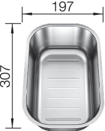 blanco lantos 6 s if centric edelstahl b rstfinish 521754 einrichtungsland m bel spanrad. Black Bedroom Furniture Sets. Home Design Ideas