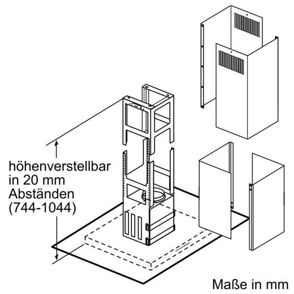 Neff - Inselesse IFL 8964 N Um-/Abluft 90 cm