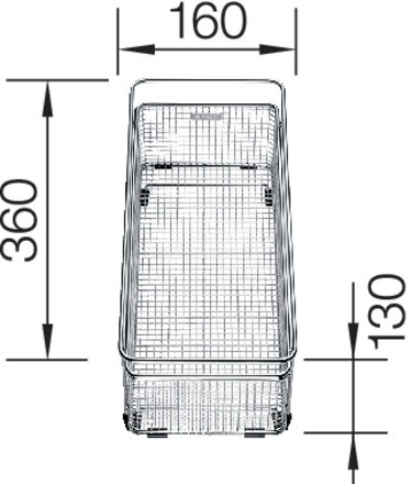 Blanco Multifunktionskorb aus Edelstahl 360x160x130mm