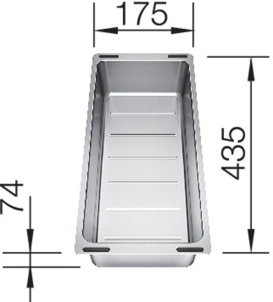 BLANCO Multifunktionsschale aus Edelstahl