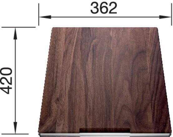 Blanco Holzschneidbrett Nussbaum 420 x 360 mm