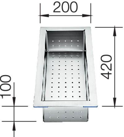 BLANCO Resteschale Edelstahl 420 x 200 x 100 mm
