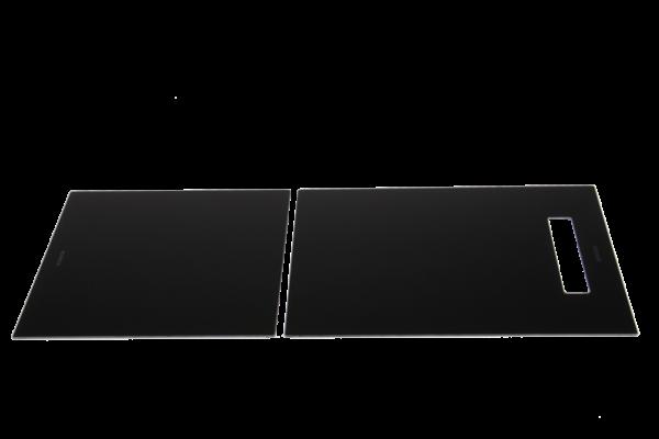 Schock - Glasschneidbretter schwarz für Doppelbecken
