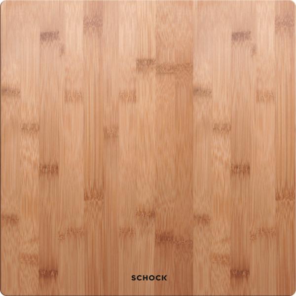 Schock Holzschneidbrett aus Bambus 395 × 395 × 20mm