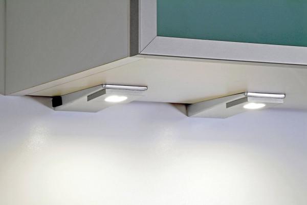 SK Quadrat LED-Unterbauleuchten-Set mit Zentralschalter