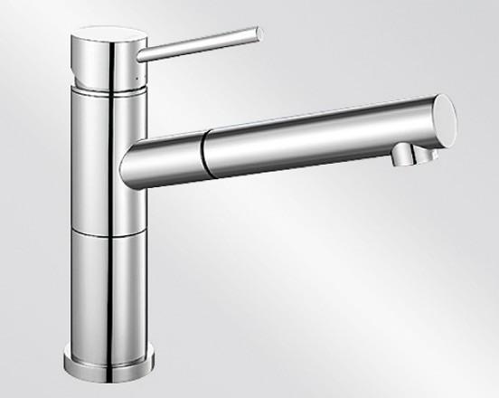 BLANCO ALTA-S Compact Schlauchbrause mit metallischer Oberfläche