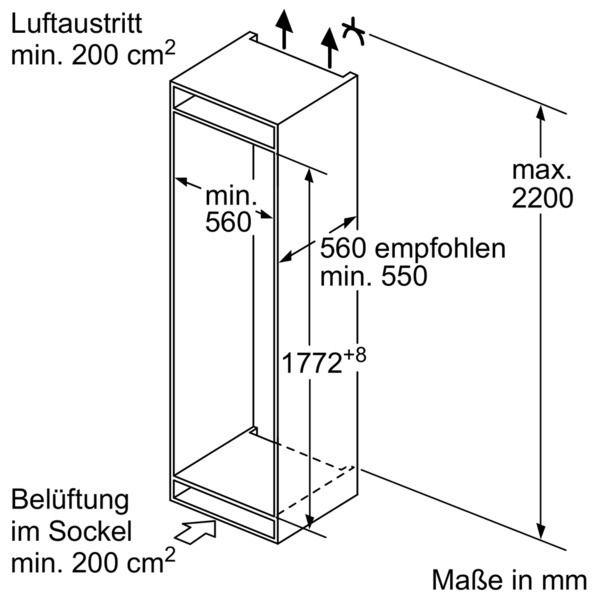 Neff - K 846 A3 Integrierter Einbau-Kühlautomat FreshSafe 178cm EEK: A+++