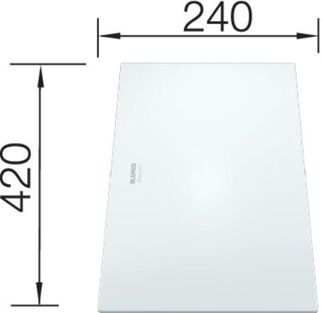 Blanco Glasschneidbrett weiß satiniert 420x240 mm