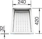 Blanco-Tropfschale Edelstahleinsatz 420 x 240 x 32 mm