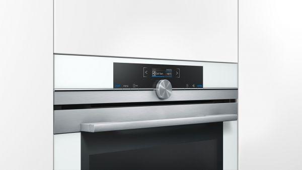 Siemens - Einbaubackofen HB634GBW1 weiß 4D‐Heißluft EEK: A+