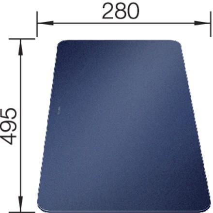 Blanco Glasschneidbrett in samt-mattem Nachtblau