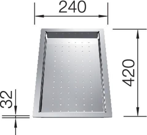 Blanco Tropfschale Edelstahleinsatz 420x240x32 mm
