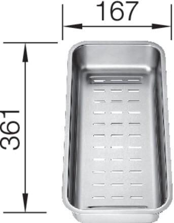 Blanco Multifunktionsschale aus Edelstahl 361x167x57 mm