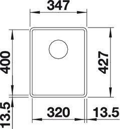 Blanco - 519790 BLANCO SUBLINE 320-F SILGRANIT® PuraDur® II anthrazit mit Ablauffernbedienung