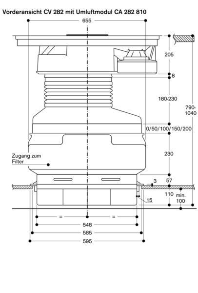 Gaggenau - Umluftmodul CA 282 810