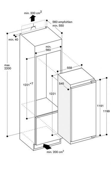 Gaggenau - Kühlschrank RC 222 203 Nische 122 cm
