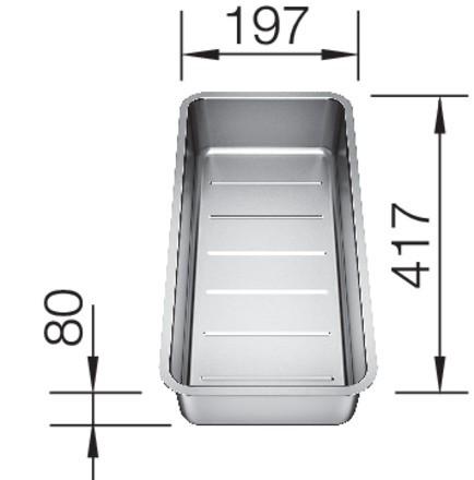 Blanco-Funktionsschale aus Edelstahl 227692