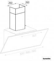 Airforce Kamin für Abaco, Firenze Eco Dunstabzugshaube Schwarz lackiert 533-882110