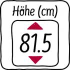 81,5 cm hoch