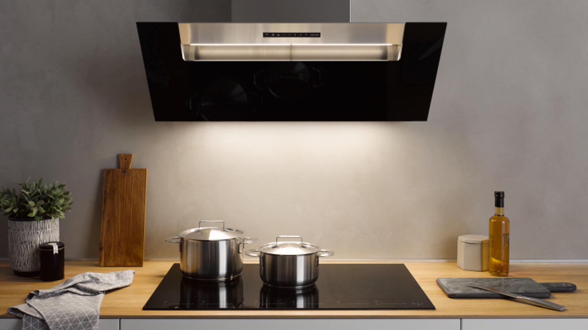 Kopffreihauben für mehr Platz in der Küche