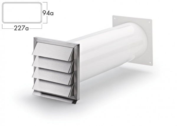 COMPAIR Klima-E 150 Mauerkasten Flachkanal